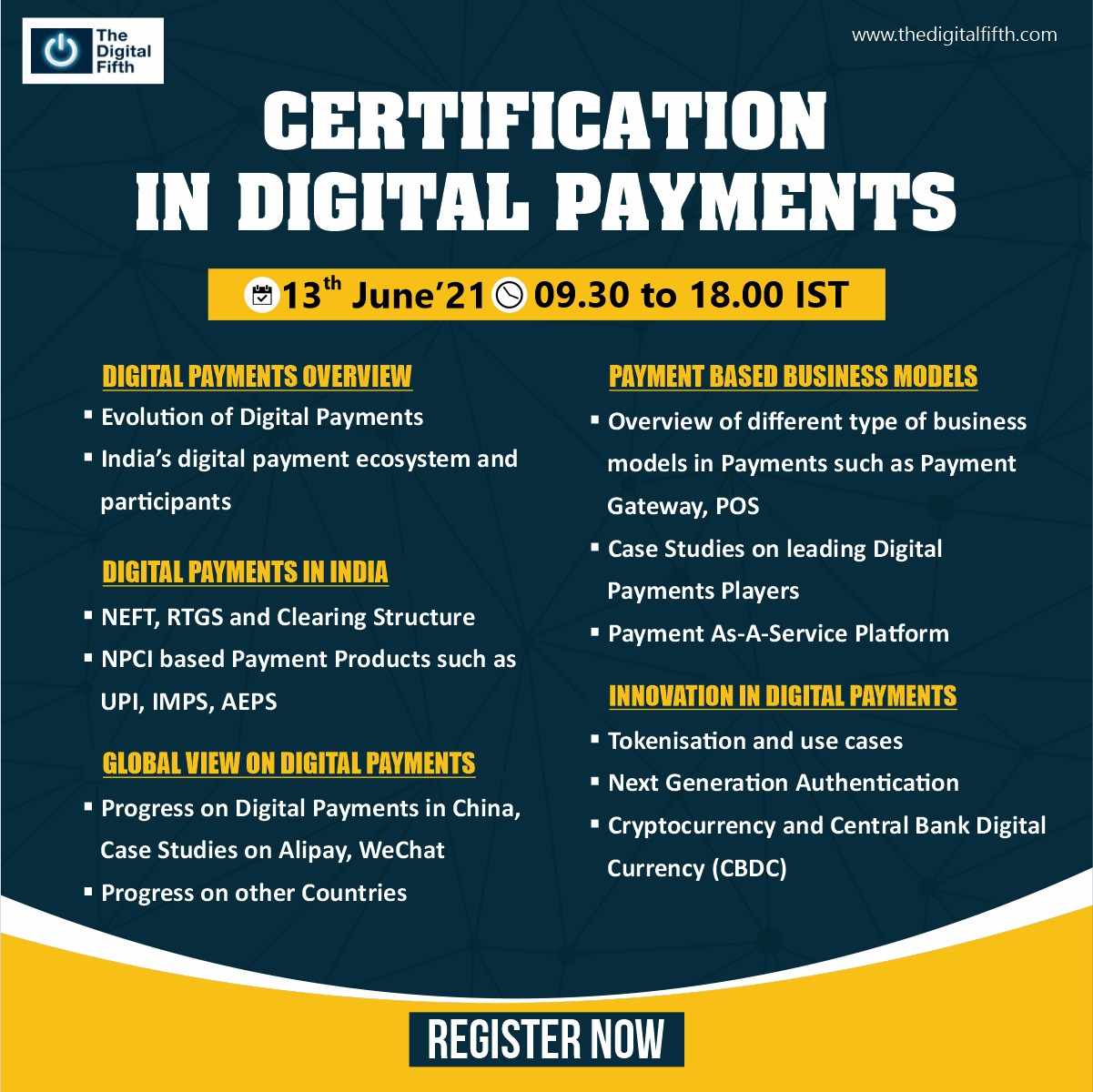 Digital Payments Ccertificate